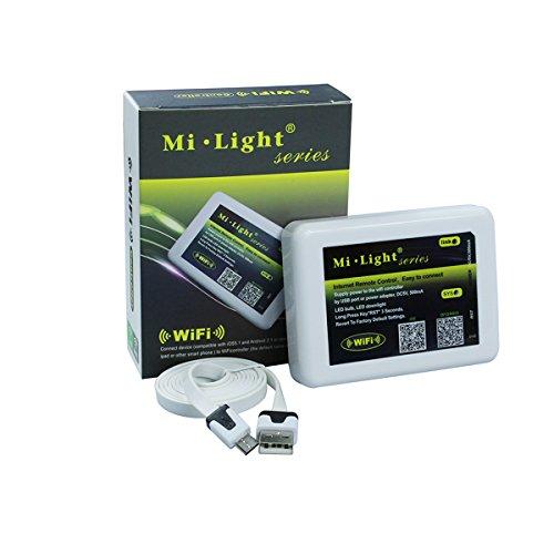 kpbotl DC5–24V Wireless WiFi Remote Controller para 2.4G mi. Luz RGB W foco LED Strip RGB para iOS Android Sistema