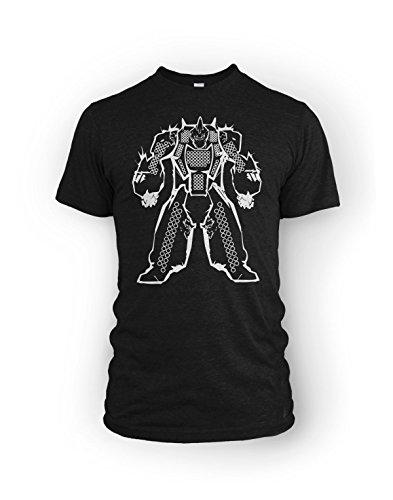 Mech Damage Chart Battletech Mechwarrior RPG fan T-Shirt -Men's XL Black