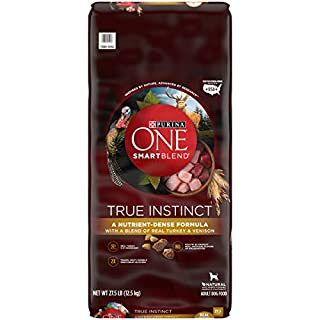 Purina ONE High Protein Natural Dry Dog Food, SmartBlend True Instinct With Real Turkey & Venison - 27.5 lb. Bag