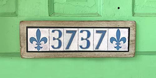 Custom New Orleans Themed House Number sign