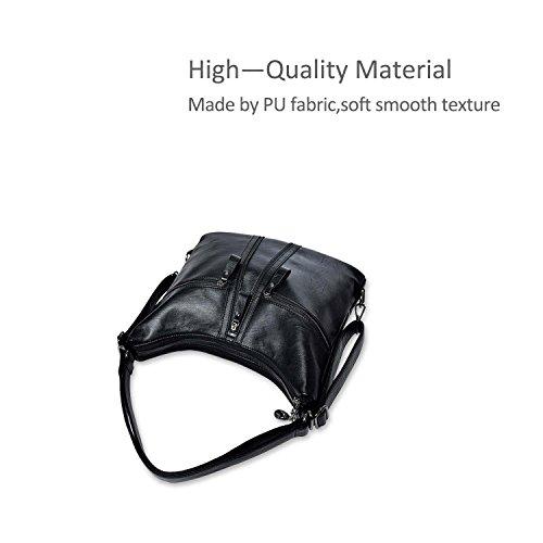 Body Bags Sale Leather amp; DORIS Shoulder Tote NICOLE Womens Bolsos Bag PU Big Cross Negro Purse Fashion Ladies Gris Vintage qtTwwYa