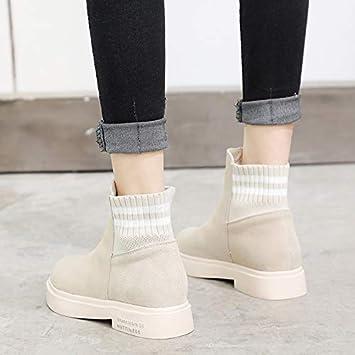 04da79cc2 Shukun Botines Martin Boots Botas para Mujer de otoño e Invierno