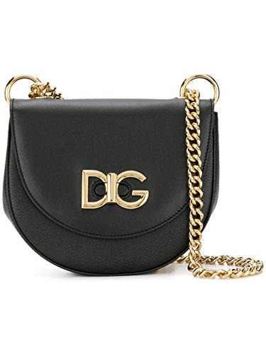 Dolce Gabbana Leather Purse - Dolce E Gabbana Women's Bb6433an1858b956 Black Leather Shoulder Bag