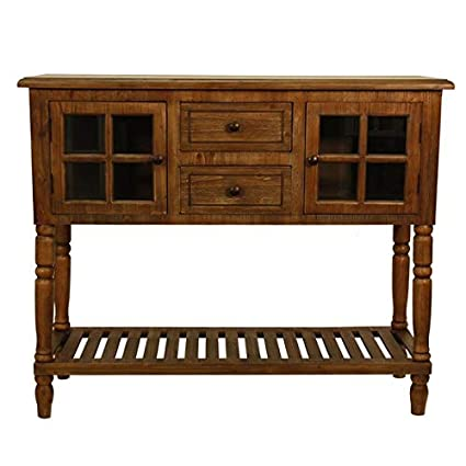 Amazon Wood 1 Shelf Console Table With Glass Doors