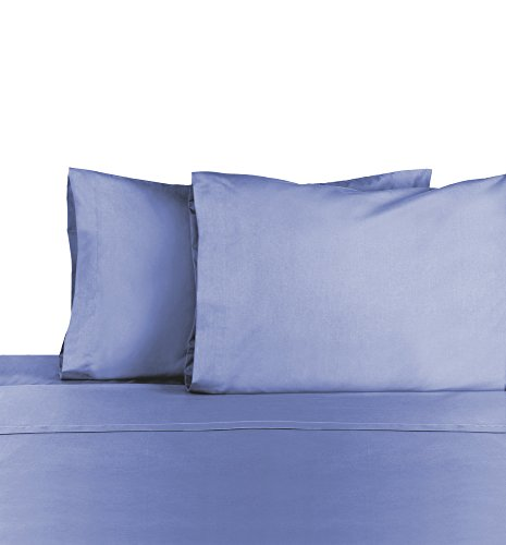 (Martex Cotton Rich Bed Sheet Set - Brushed Cotton Blend, Super Soft Finish, Wrinkle Resistant, Quick Drying,  Bedroom, Guest Room  - 3-Piece Twin Set, Ceil Blue)
