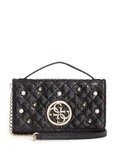 GUESS Gioia Embossed Stud-Embellished Clutch (Pearl Handbag Guess)