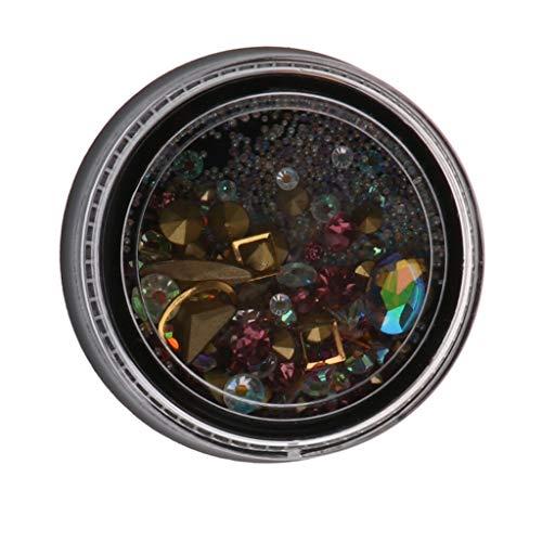 Nail Art Decoration Mix Color Rhinestone Studs Diamond Gem Bead Glitter Set (Color - L)