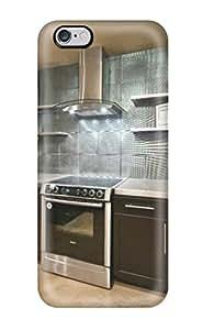 SkdnpLv1600sZuEL Black Kitchen With Silver Metallic Backsplash Awesome High Quality Iphone 6 Plus Case Skin