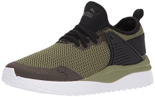 PUMA Unisex Pacer Next Cage GK Kids Sneaker, Black-Capulet Olive, 4.5 M US Big