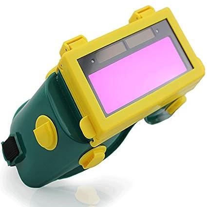 Tiptiper Máscara de la soldadura, oscurecimiento auto solar Protección del casco de la protección del soldador del LCD Gafas: Amazon.es: Industria, ...