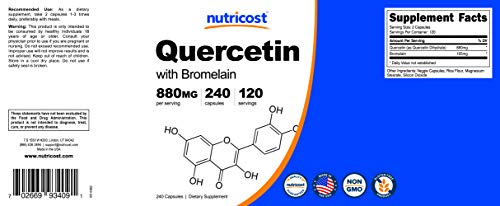 Nutricost Quercetin 800mg, 240 Caps With Bromelain (2 Bottles) by Nutricost (Image #6)