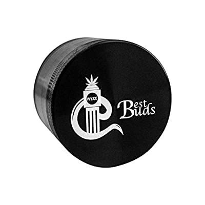 Best Buds Weed Grinders - Tobacco Spice Herb Grinder with Cool Design - 4pc Marijuana Grinder with Pollen-Kief Catcher - Kief Scraper & Cleaning Guide Included from Best-Buds