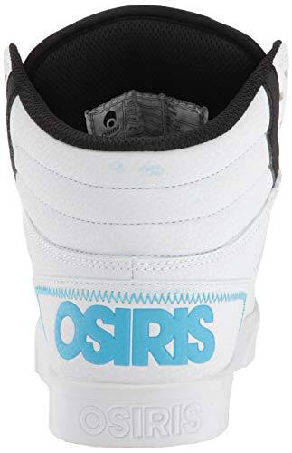 Mens Top Hi Black Light Blue White Skate Shoe Clone Osiris qwCxnPt