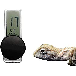 OMEM Digital Reptile Thermometer, Glass adsorption, Switching Fahrenheit and Celsius temperatures, Suitable for Snake Spider Turtles