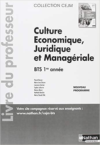 Amazon Fr Culture Economique Juridique Et Manageriale Bts