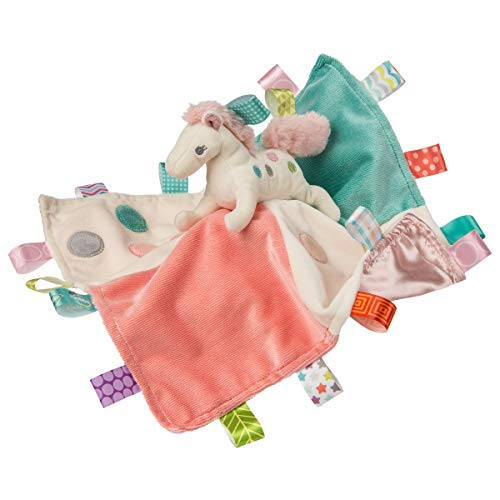 Taggies Soothing Sensory Stuffed Animal Security Blanket, Painted Pony, 13 x 13-Inches