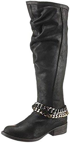 Bullboxer Damen Stiefel Leder schwarz antik solarnet nrw