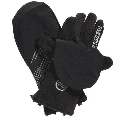 Manzella Windproof Gloves (Manzella Men's Hatchback Glove/Mitt (Black,)