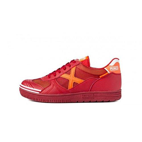 Stiefel München G3rot/orange Glatte Sohle rot