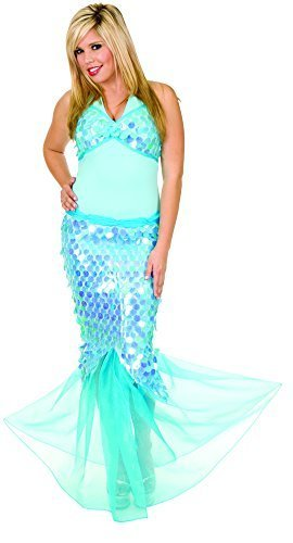 Charades Women's Blue Lagoon Mermaid Costume, Blue, Large