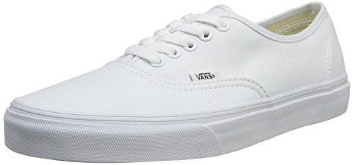 Bestelwagens Unisex Authentiek Solide Canvas Skateboard Sneakers (44 M Eu / 12 B (m) Ons Dames / 10.5 D (m) Us Men, True White)
