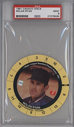 Nolan Ryan PSA GRADED 9 (Baseball Card) 1991 Cadaco Game Discs - [Base] #NORY