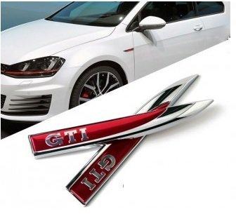 Volkswagen GTI Emblema para Guardabarros - izquierdo y derecho Kit: Amazon.es: Coche y moto