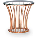 HOMES: Inside + Out IDF-4124C Isabella Coffee Table, Rose Gold