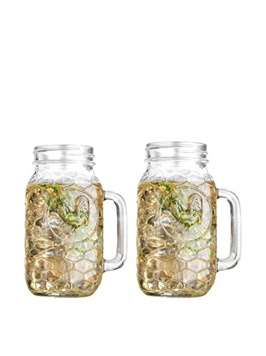 Home Essentials Country Chic Rooster 22oz Mason Jars, Set of 2