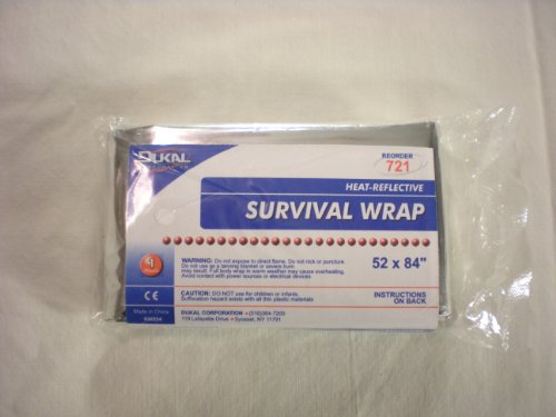 Heat Reflective Emergency Blanket / Survival blanket by Dukal