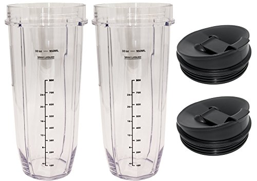 Blendin Replacement Jar with Sip N Seal Lid, Fits Nutri Ninja Auto IQ and Duo Blenders (2, 32 Ounce) by BLENDIN (Image #5)