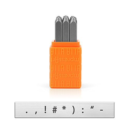 [해외]ImpressArt 기본 금속 스탬프 세트, 구두점, 3mm/ImpressArt Basic Metal Stamp Set, Punctuation, 3mm