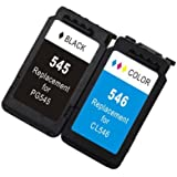 Ink Jungle PG545 Black & CL546 Colour Standard Capacity Remanufactured Ink Cartridge Combo Pack For Canon PIXMA MG2450 MG2455 MG2550 MG2555 iP2850 iP2855 MG2950 MG2950S MG2955 MX495 Inkjet Printers