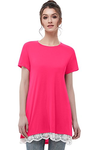musever-womens-short-sleeves-tunic-tops-casual-lace-t-shirt-blouse-rose-pink-xl