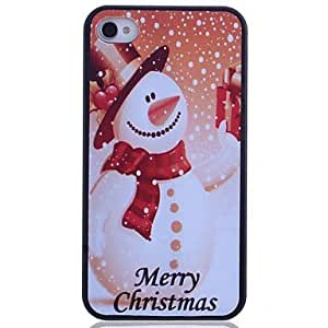 DUR Snowman Printing Back Case for iPhone 4/4S