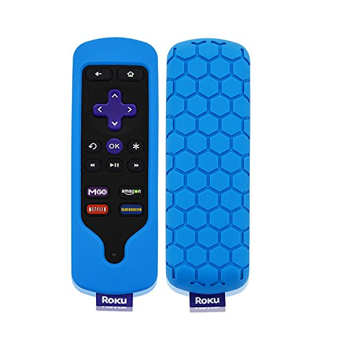 Roku Streaming Stick (3600r) de caso remoto, acdream Casebot [Miel Peine Series] Peso ligero [antideslizante] Prueba de Golpes carcasa de silicona para Roku Streaming Stick (3600r) Mando a Distancia,, Azul, 1