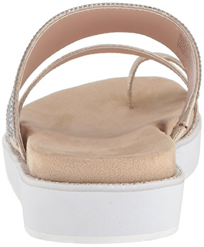 Kenneth Cole Reaction Women's Slam Shot Toe Ring and Micro-Jewel Strap Flat Sandal Soft Gold CFTyhbfos