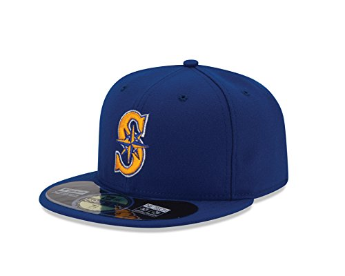 MLB Seattle Mariners Men's Authentic Collection On Field 59FIFTY Fitted Cap, 7 5/8, Royal ()