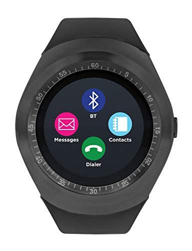 (iTOUCH Curve Smartwatch Unisex Fitness Pedometer Sleep Monitor Calorie Tracker Gun Black)