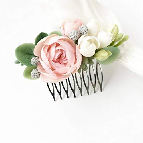 Flower bridal comb AMBRE bridal headpiece