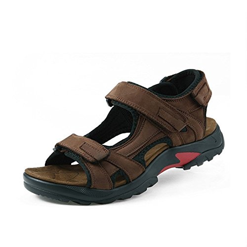 Männer Sandalen, Ausgefranste Schuhe, Leder - Männern Schuhe Farbe: Braun, Khaki.,Brown,Eu47