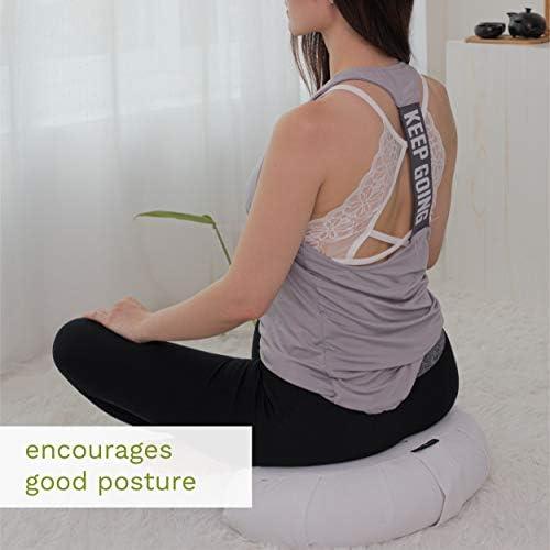 Amazon.com: Mindful and Modern - Cojín grande de meditación ...