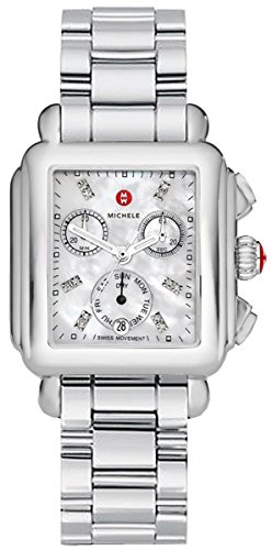 Michele Signature Deco Non-Diamond Diamond Chronograph Dial Ladies Watch MWW06P000101 by MICHELE