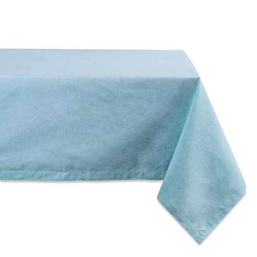 DII 100% Cotton, Machine Washable, Everyday Chambray Kitchen Tablecloth For Dinner Parties, Summer & Outdoor Picnics - 60x104