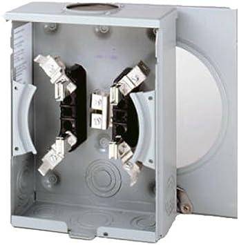 Eaton Corporation Uhtrs101be Single Residential Meter Socket 600v 100 Amp Electrical Meter Sockets Amazon Com
