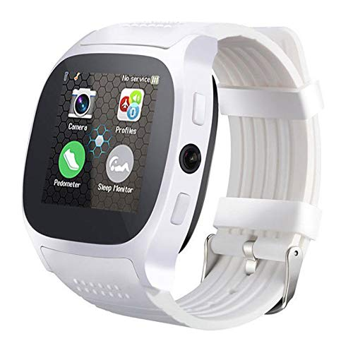 Amyove Bluetooth Smart Watch Phone Mate SIM FM Pedometer for Android iOS iPhone Samsung White
