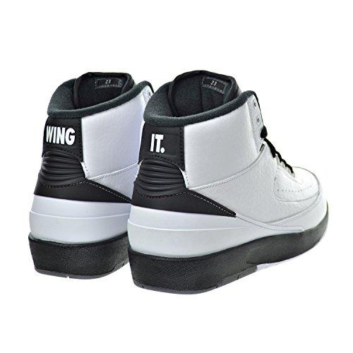 Nike Herren Air Jordan 2 Retro Basketballschuhe white, black-dark grey