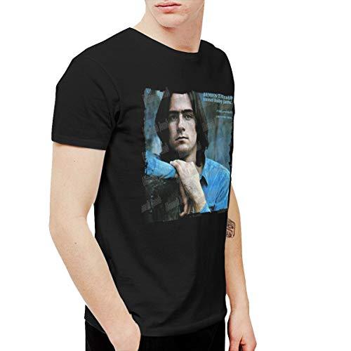 HannahJ Mens James Taylor Sweet Baby James Tshirts Black 5XL