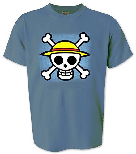 One Piece T-Shirt Skull in blau