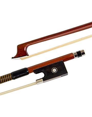 Kmise Nuez de ébano violín – Arco para violín (4/4 piezas Pack de